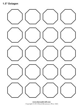 Printable Octagon Templates  GeometryShapes