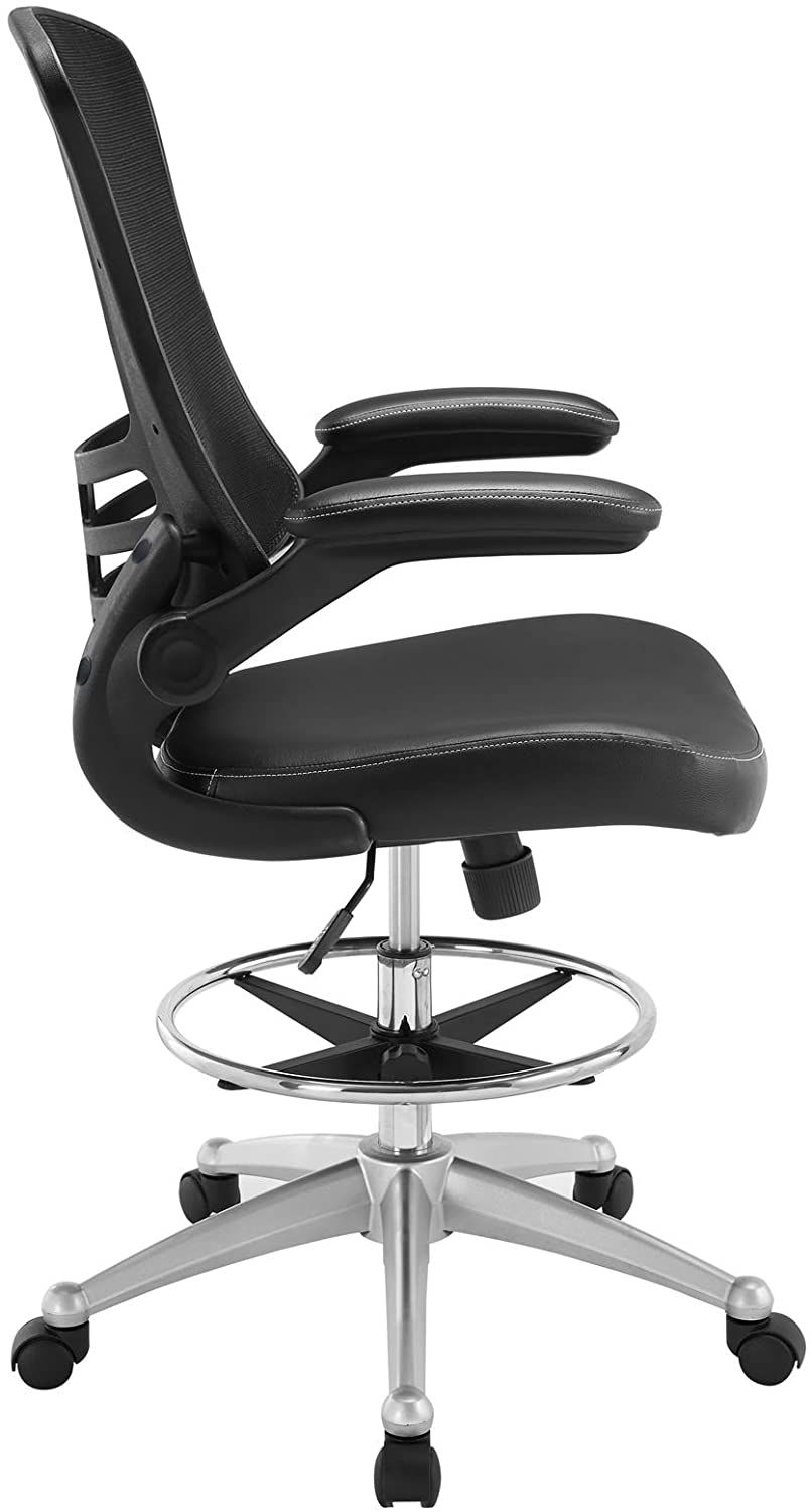 Modway attainment drafting chair in black tall office