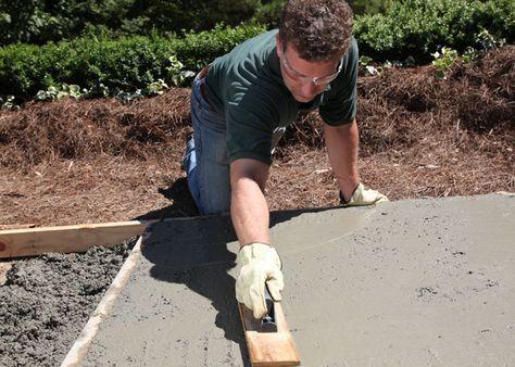 Building a sidewalk, patio or slab with @quikrete concrete