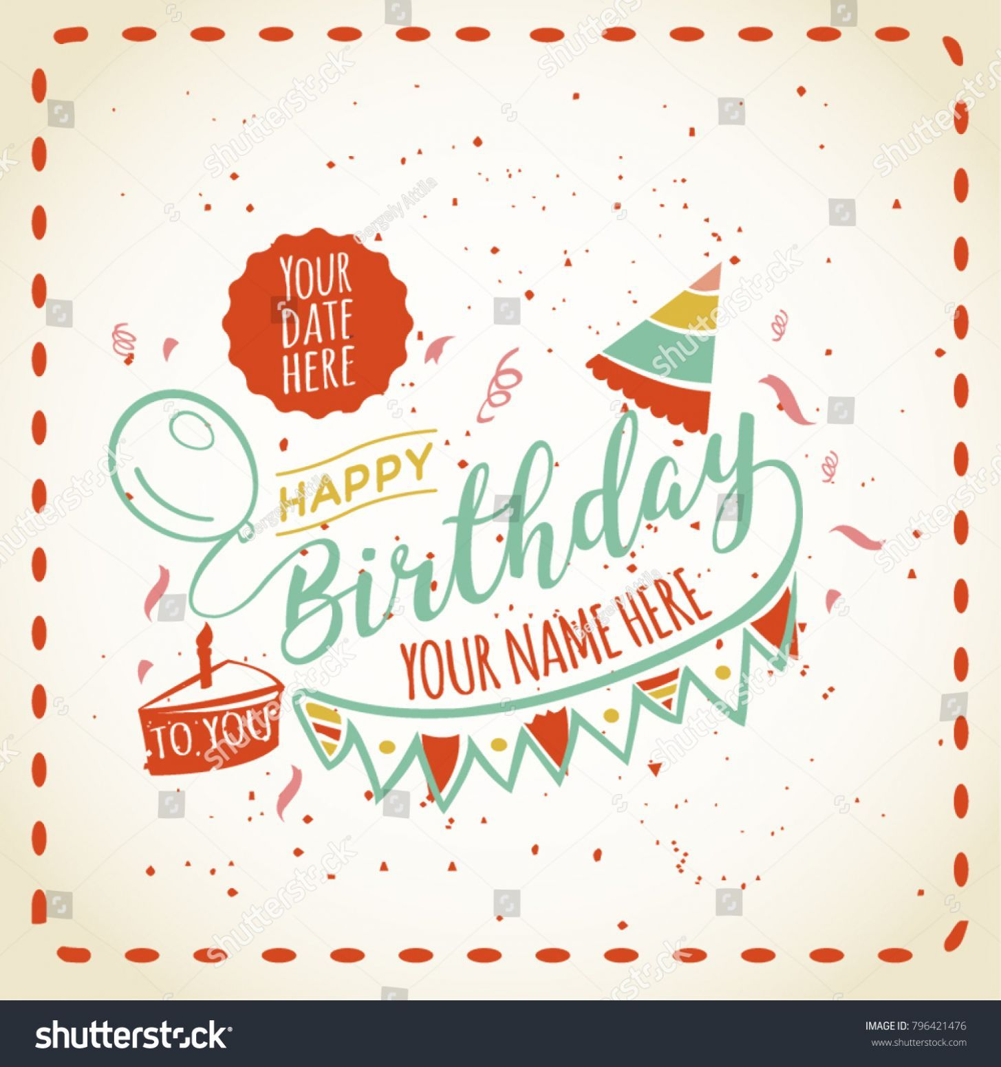 8 happy birthday card with name di 2020  e card