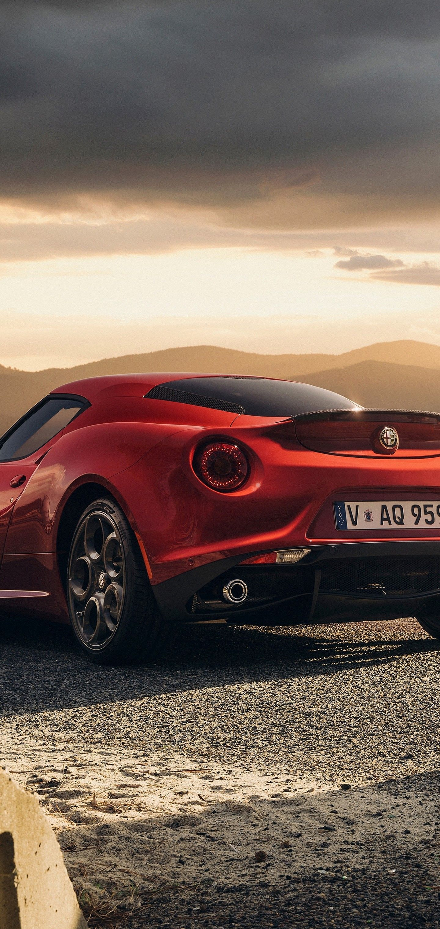 Alfa Romeo 4c Launch Edition Red Wallpaper 1440x3040 In 2020
