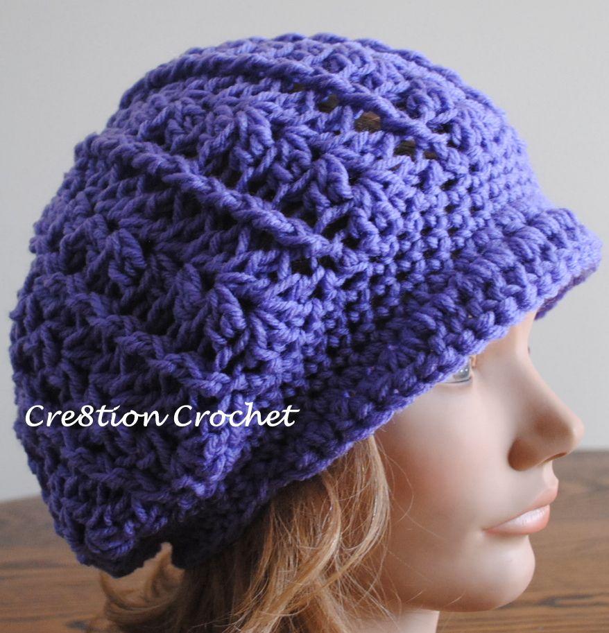 newsboy slouch free crochet pattern | hats | Pinterest | Gorros