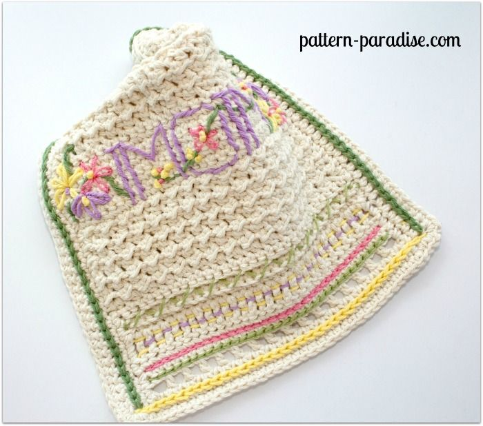 FREE Crochet Pattern - A New Dishtowel & Embellishment 101 | Hogar