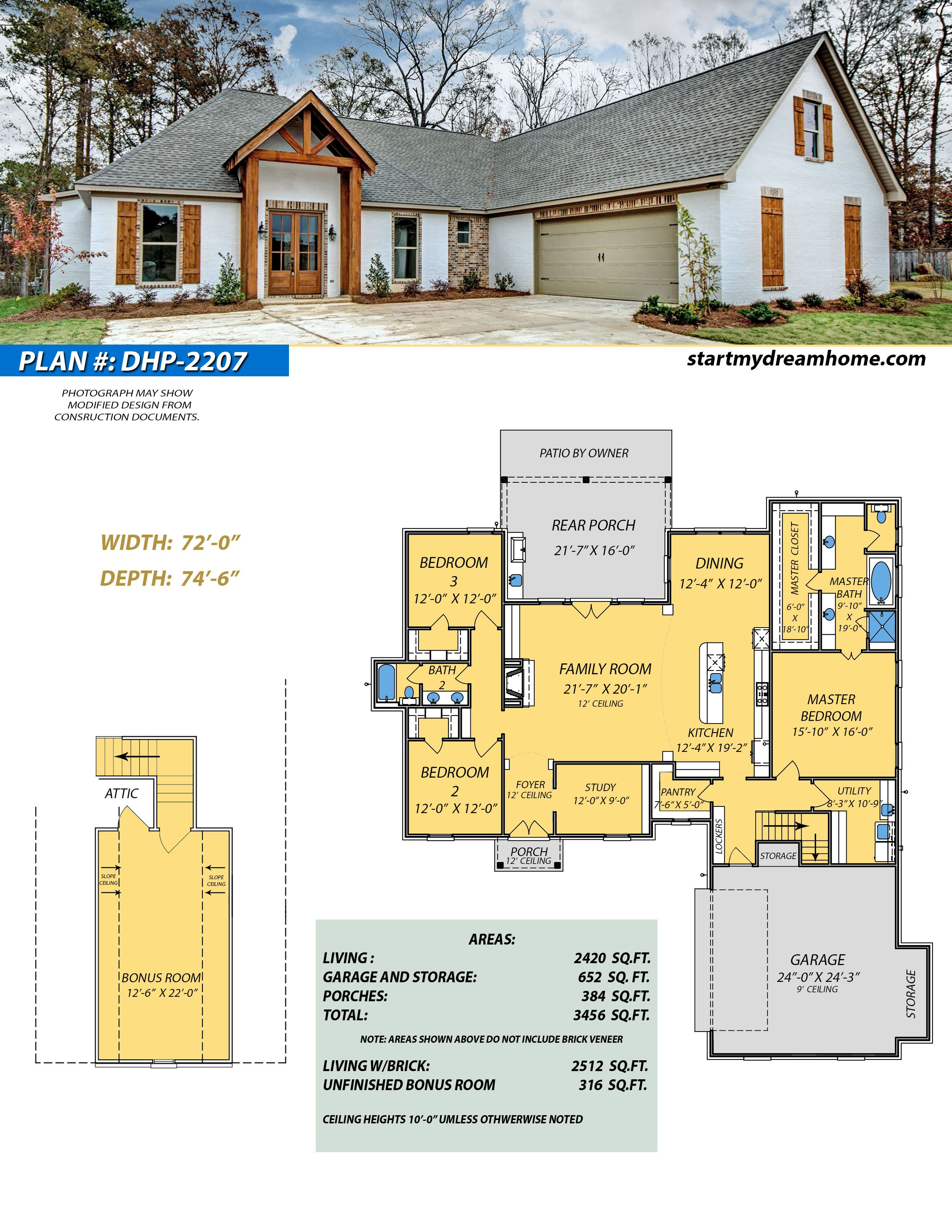 Dream Home Plan 2207 Start My Dream Home House Plans House Plan Gallery Dream House
