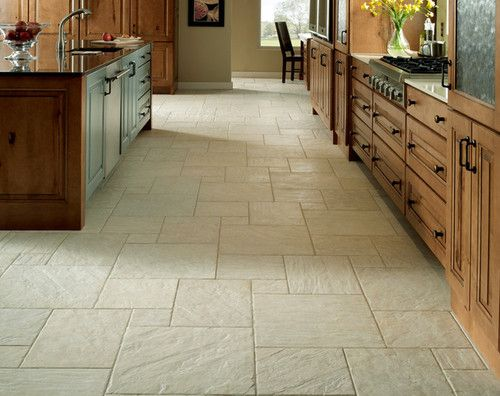 i like this flooring; would contrast the knotty pine in kitchen