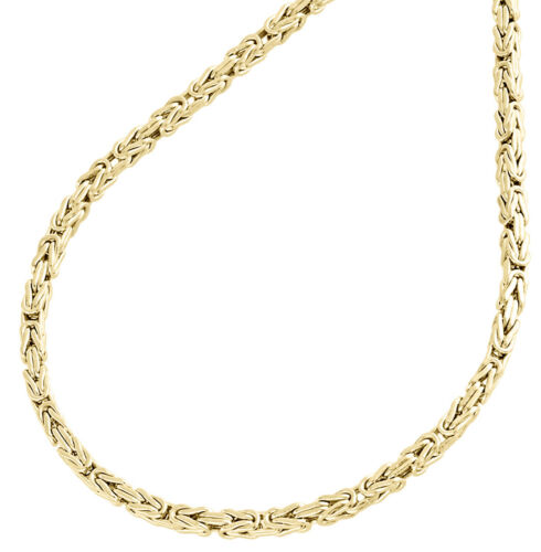 Details About 10k Yellow Gold 2mm Hollow Box Byzantine Link Chain Necklace 20 20 Inches Mens In 2020 Gold Bracelet For Women White Gold Diamond Earrings Chain Necklace