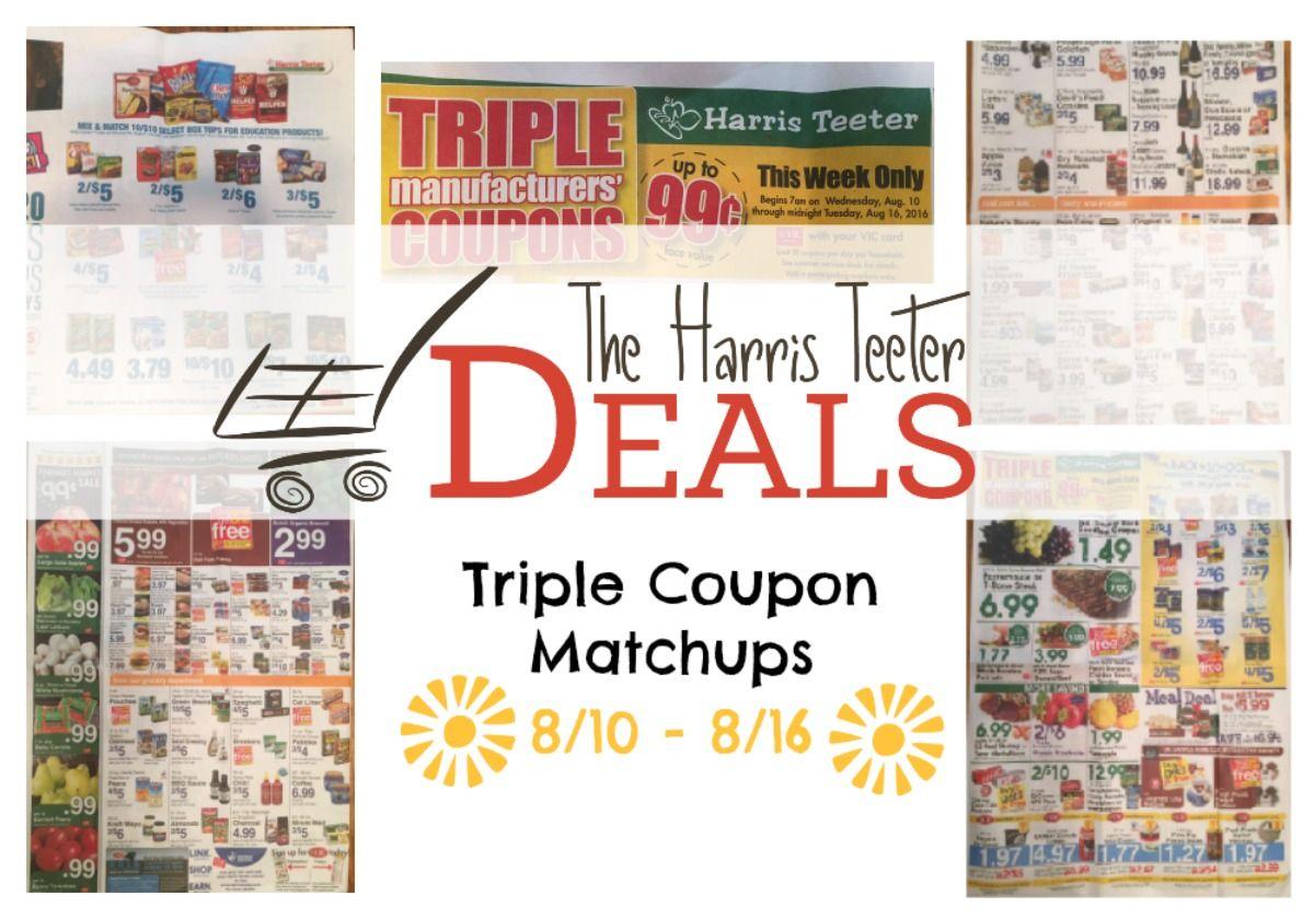 Harris teeter deals triple coupon matchups 810 816