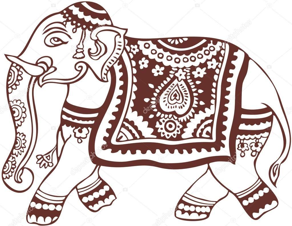 Resultado De Imagen De Elefante Dibujo Indio Indian Elephant Art Elephant Art Elephant Drawing