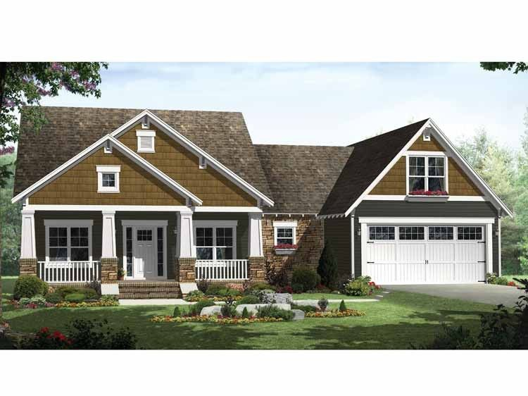 Charmant 1800 Sq Ft Craftsman Style 1 Story 3 Bedrooms(s) House Plan With 1800 Total  Square Feet And 2 Full Bathroom(s) From Dream Home Source House Plans