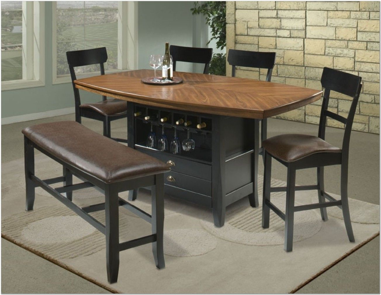 42 High Dining Table Sets Bar Table High Top Tables Kitchen Table Settings