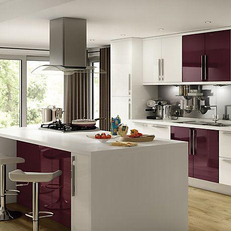 Cooke Lewis Aubergine Kitchen Ranges Kitchen Rooms Diy At B Q Contemporary Kitchen Diy Contemporary Kitchen Kitchen Furniture Design