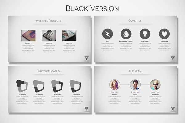 vertex - minimal presentationtugcu design co. on creative, Presentation templates
