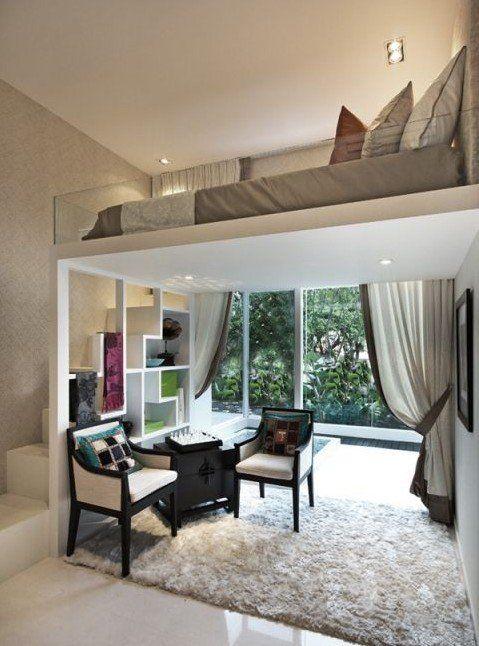 Die kleine Wohnung einrichten mit Hochhbett | Wohnung renovieren ...