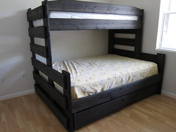 Twin Xl Over Queen Bunk With Storage Underneath Kid Spaces