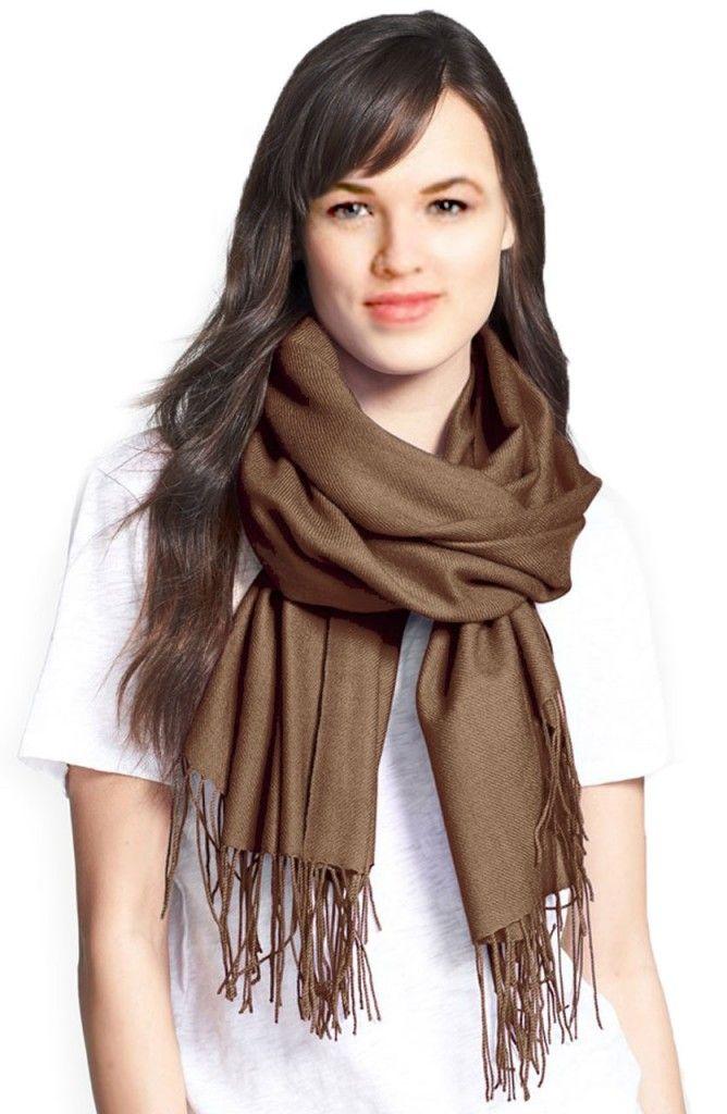 Tout savoir sur le pashmina marron pour homme et femme, écharpe marron en  laine, en cachemire ou en soie, le grand châle marron pour l hiver doux et  chaud. e3c4ef12873