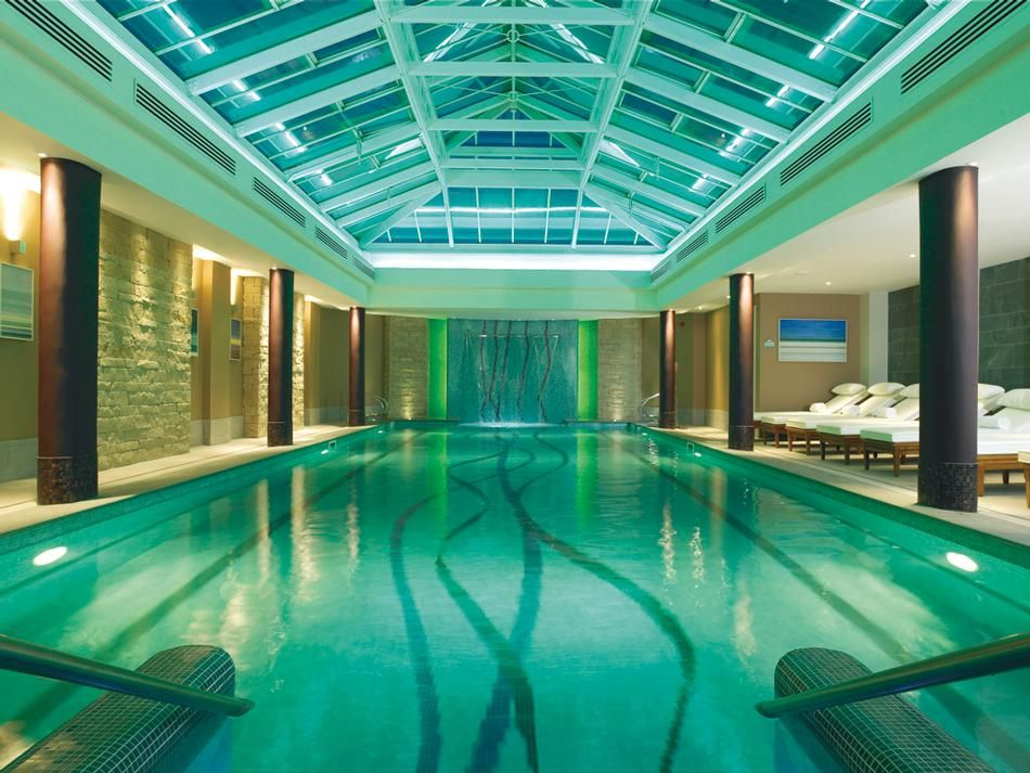 Indoor swimming pool at kohler waters spa in scotland - Luxury scottish hotels with swimming pools ...