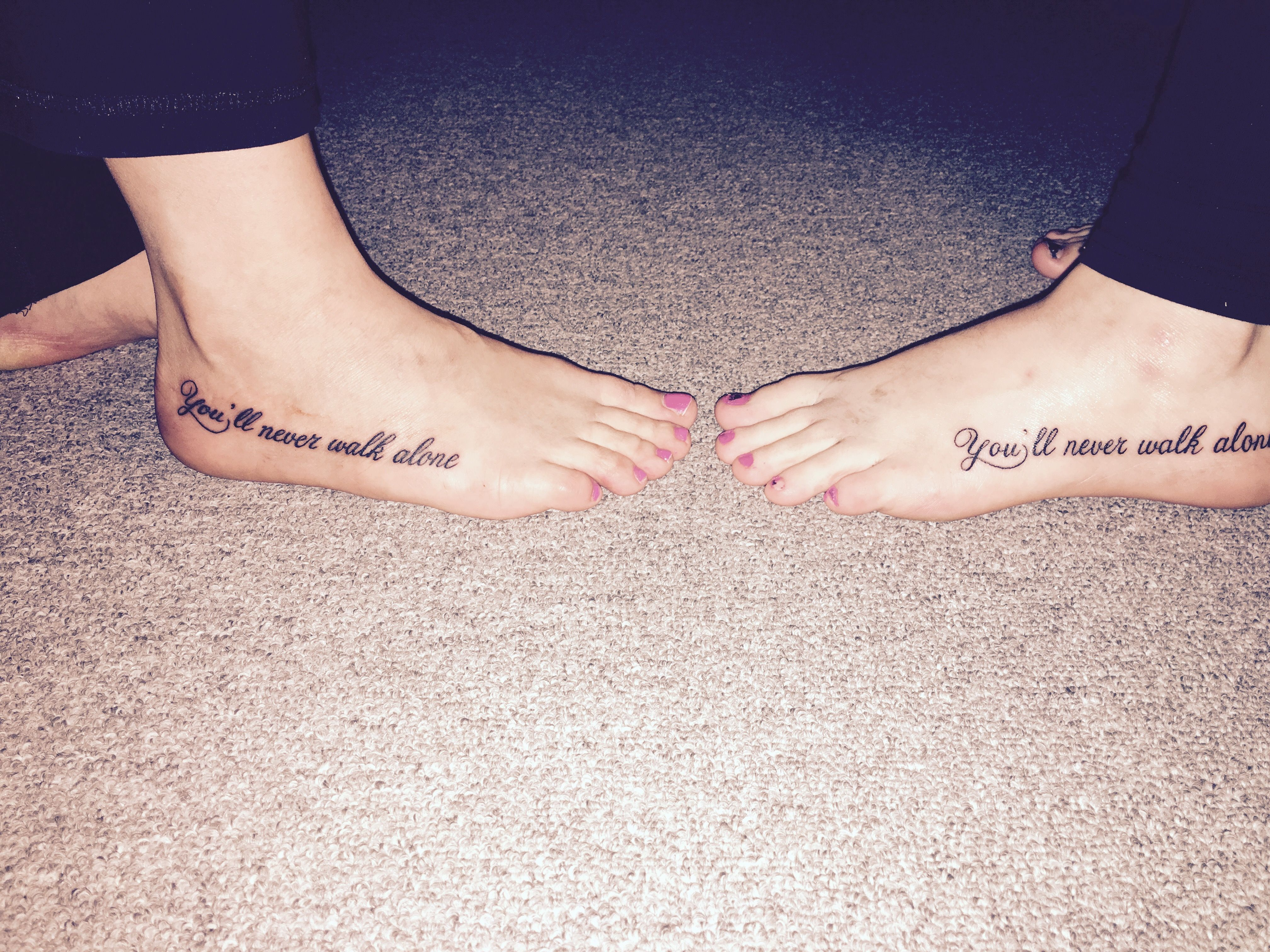 """You'll never walk alone"" frienshiptattoo Alone tattoo"