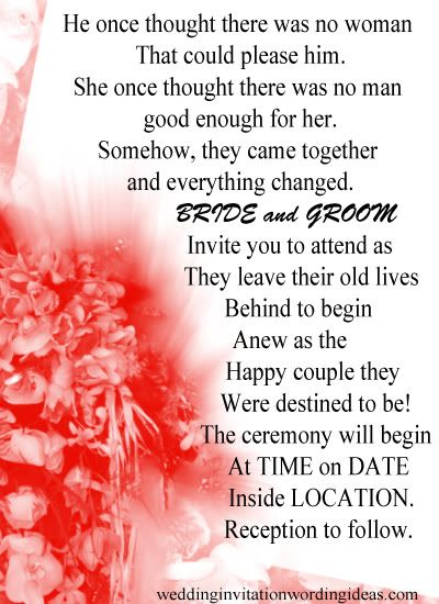 Romantic wedding invitation wording from bride and groom google romantic wedding invitation wording from bride and groom google search filmwisefo