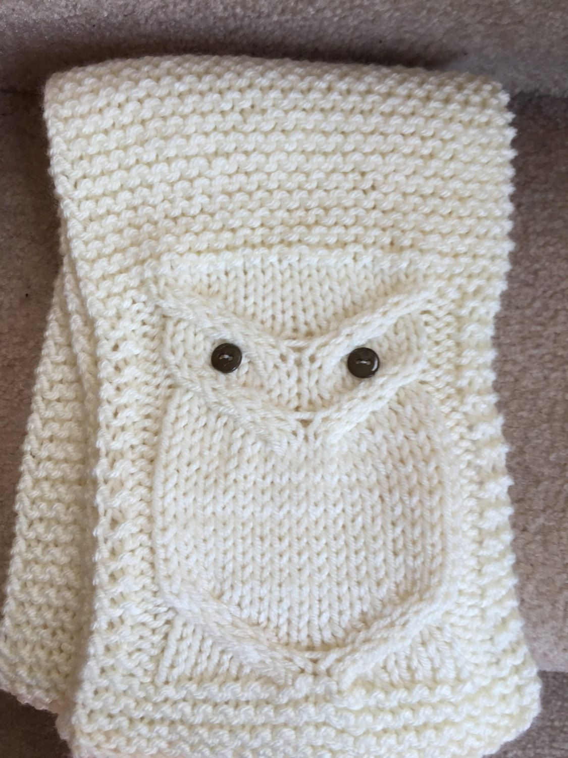 Adult Owl Scarf Knitting Pattern - pinned by pin4etsy.com | Abrigos ...