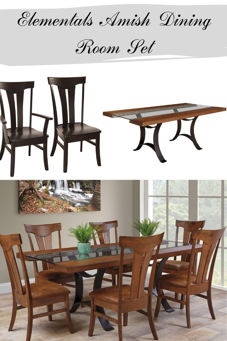 Homey And Unique This Amish Dining Room Furniture Set Features