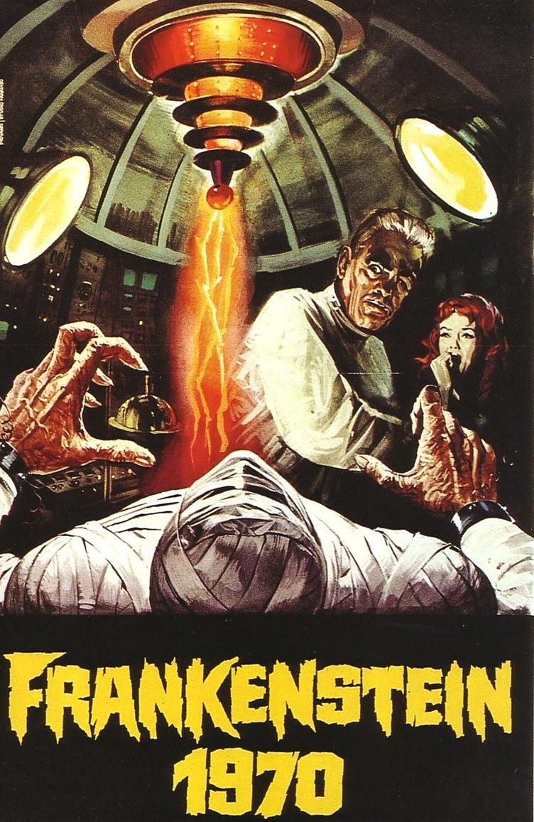 frankenstein 1970 cover movie poster illustrations. Black Bedroom Furniture Sets. Home Design Ideas