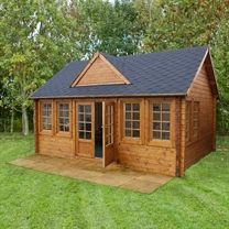 5.5 x 4m Charentes 44mm Log Cabin