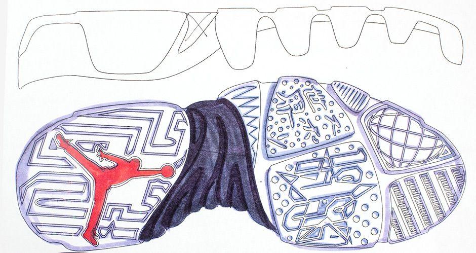 This Early Sketch Of The Air Jordan 9