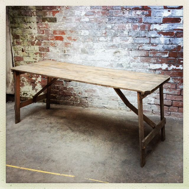 vintage trestle table events hire wedding parties styling rh pinterest ca