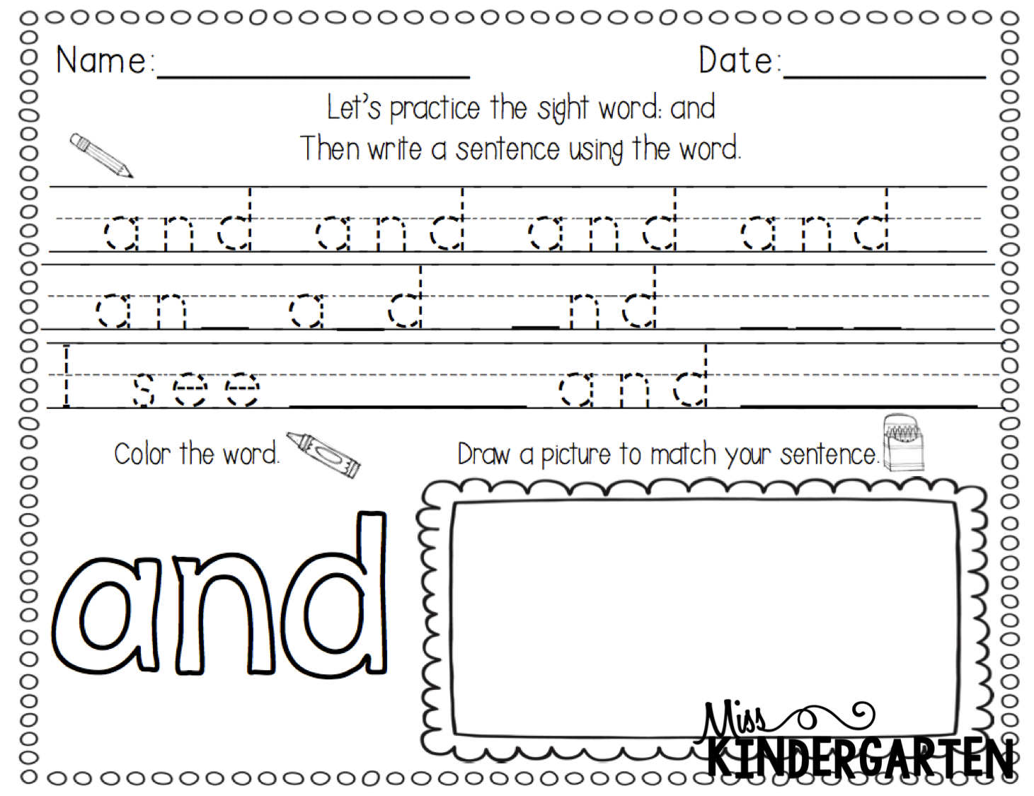 Free Sight Words Reading Practice