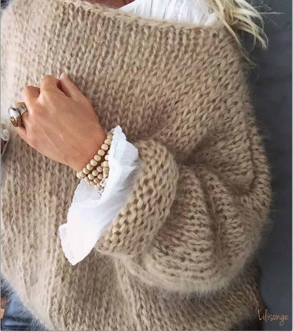 "Trendy Tricot on Instagram: ""Beige by @lili_songe_"