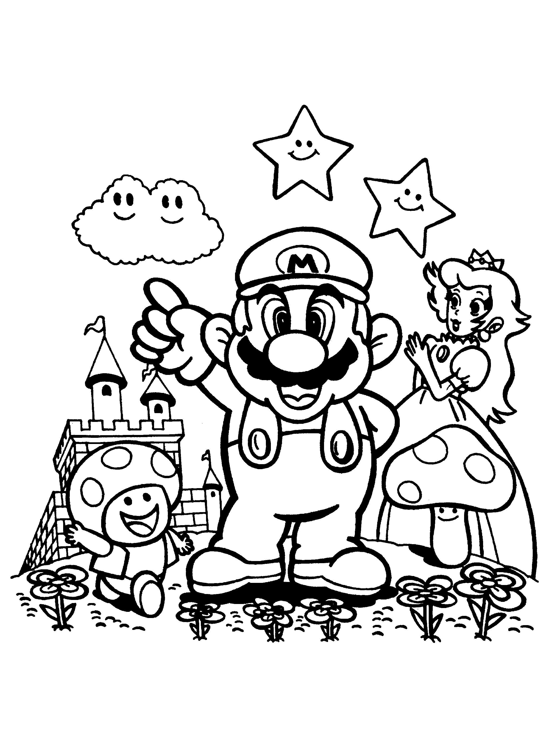 Coloriage Super Mario Bros Et Dessin Vault Boy Character