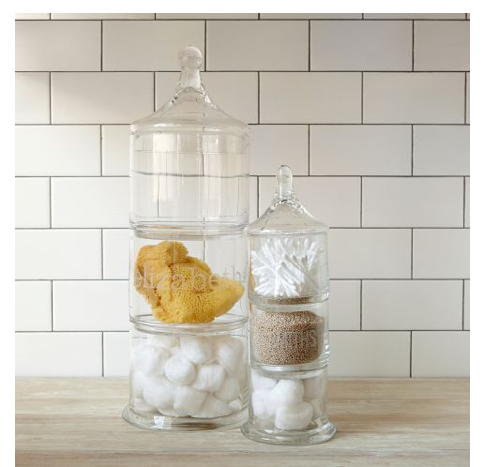West Elm Glass Containers For Bathroom Storage Apothecary Jars Bathroom Furniture Modern Jar