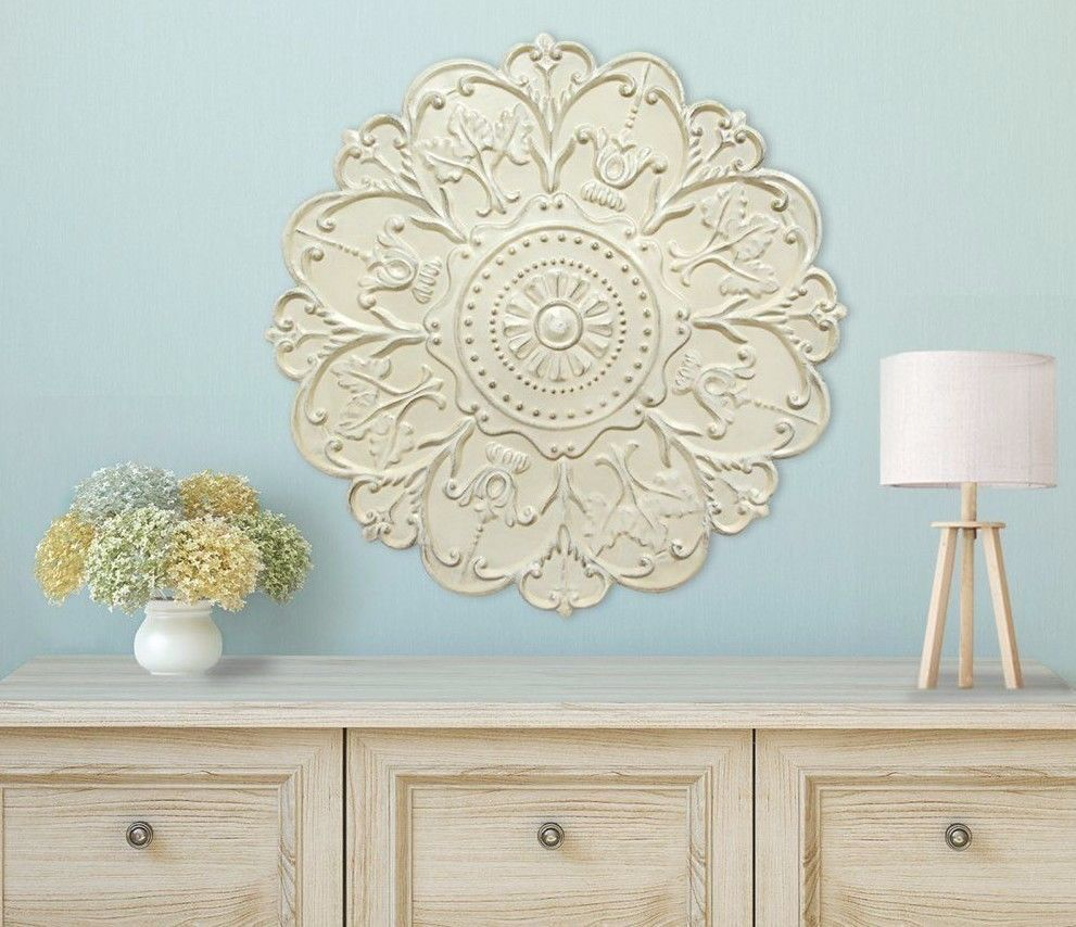 Large Decorative Distressed Shabby Victorian Scrolling Medallion Wall Art Plaque Unbranded Wallpl Medallion Wall Decor Medallion Wall Art Stratton Home Decor