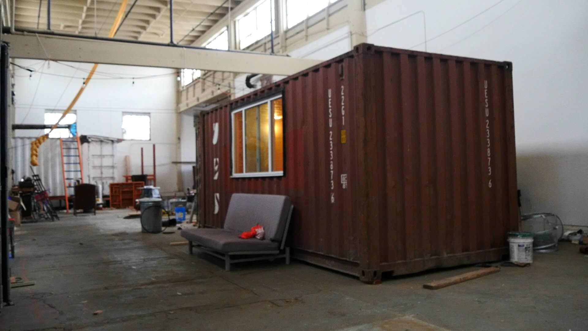 Step inside an underconstruction shipping container tiny home uc