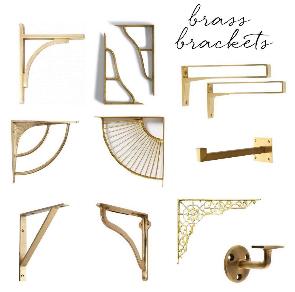 Brass shelf brackets centsational style kitchen shelf