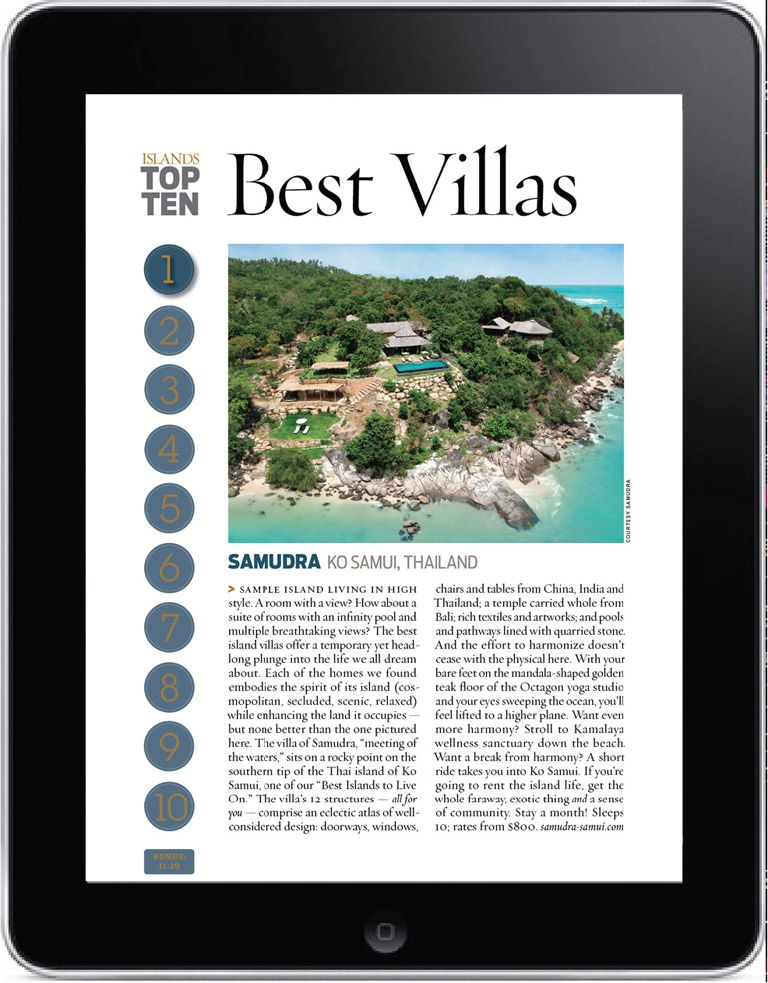 Stay in one of the world's top best island villas
