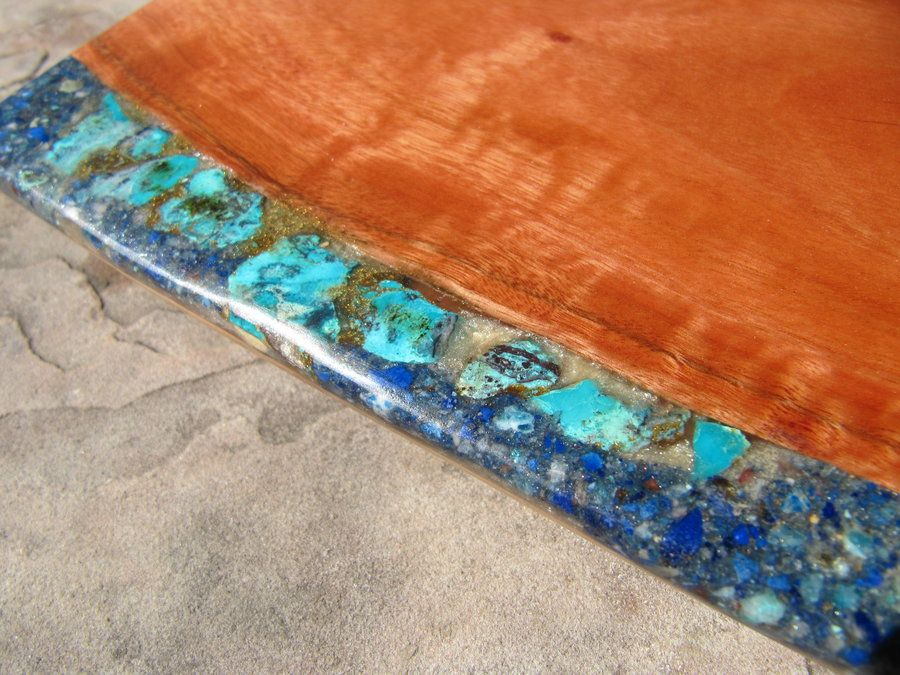 Recent Samples Of Stone Inlay In Wood By Andy Needles