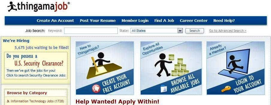 Looking for a job? Thingamajob lists thousands of contract