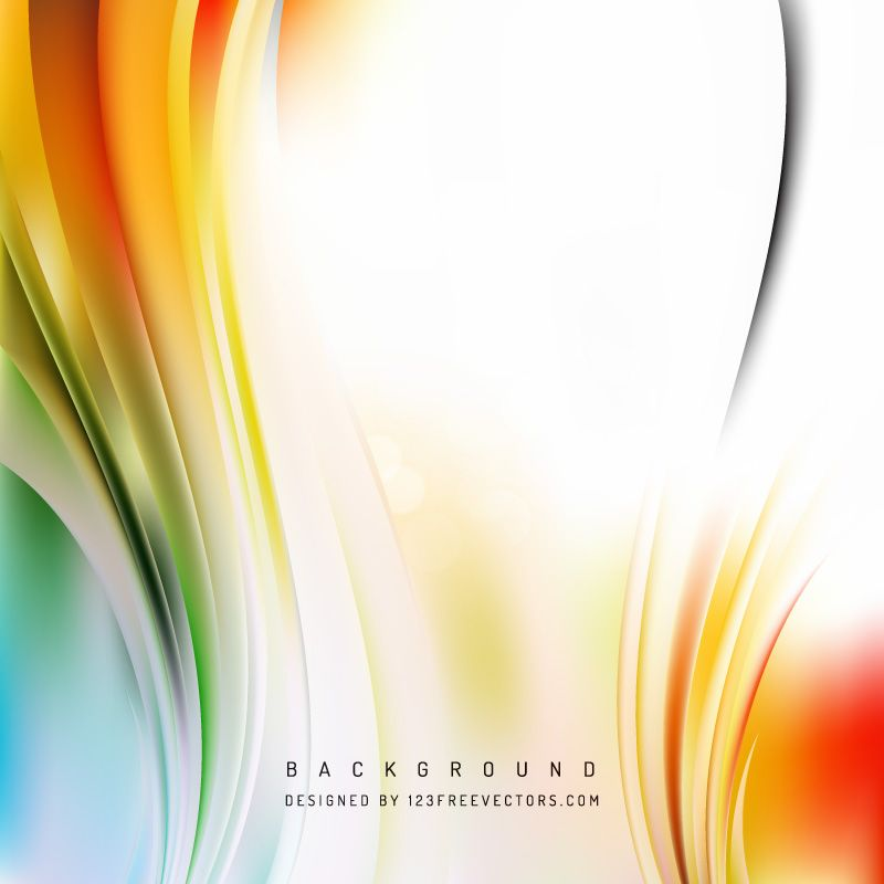 Free Abstract Orange White And Green Vertical Wave