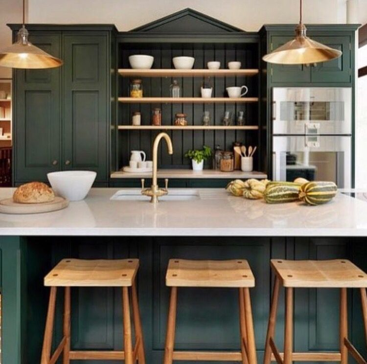 Farrow And Ball Kitchen Cabinets: Farrow And Ball, Shadow Green In 2019