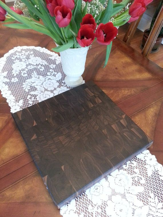 Square End Grain Black Walnut Butcher Block / by KentuckyHardwoods