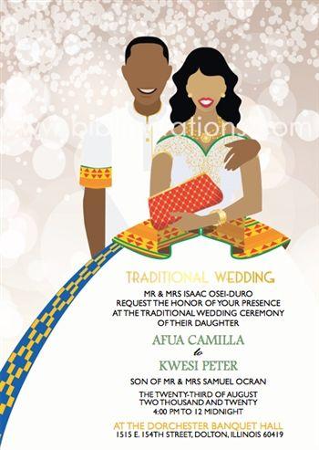 Woma mani gye Ghana Traditional Wedding Invitation Traditional