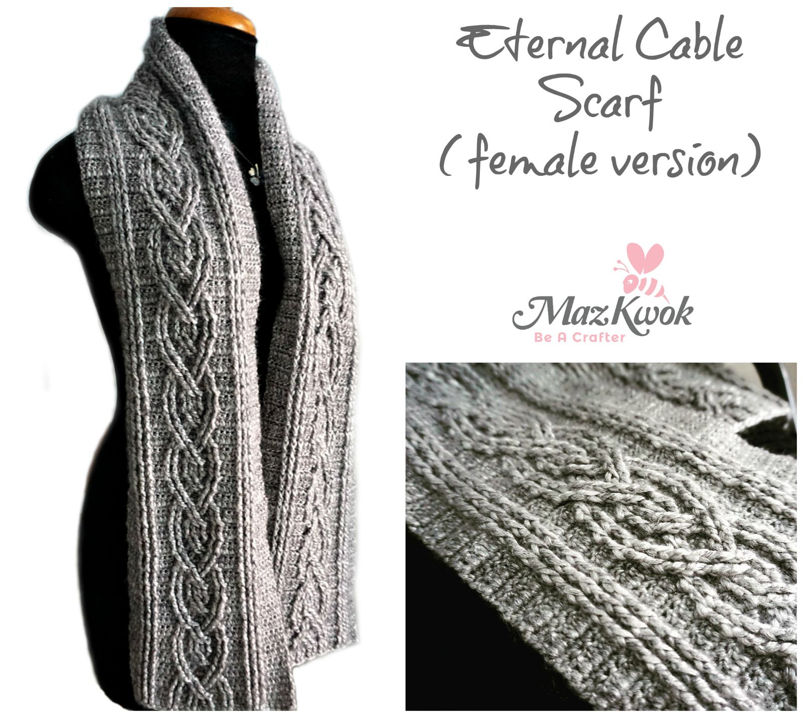 crochet cable scarf | Needle Art: Crochet | Pinterest | Dos agujas