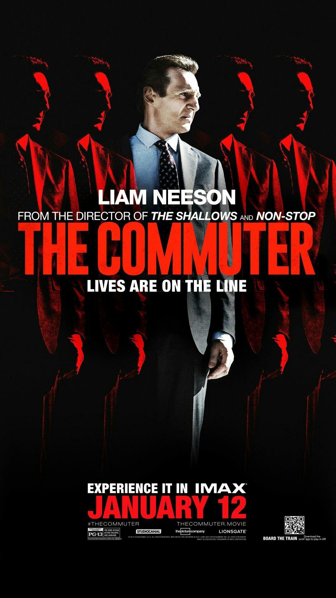 Thecommuter Novo Poster Estrelando Liamneeson Verafarmiga