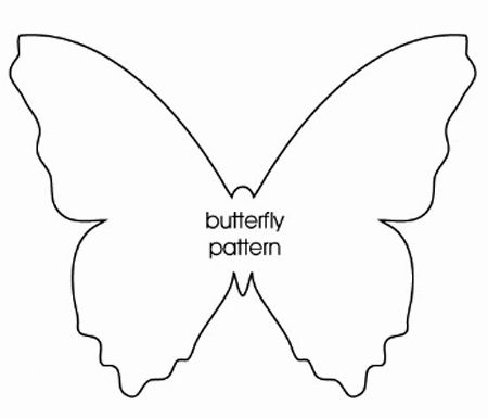Home dzine craft ideas paper butterfly mobile or for Butterfly paper cut out template