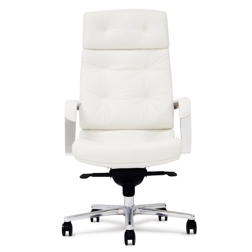 Perot Leather Executive Chair Contemporary Office Chairs White Office Chair Executive Chair