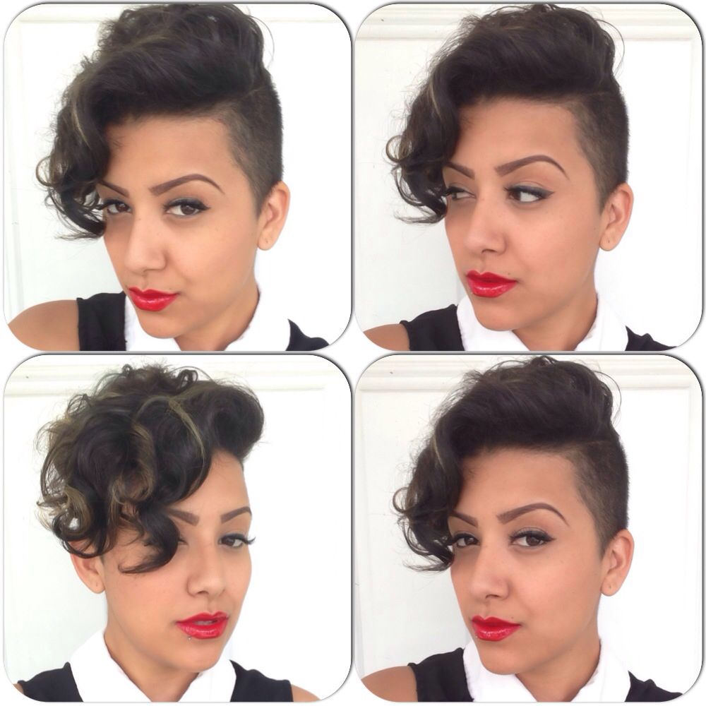 Shaved sides with curls hair pinterest shaved sides and curls