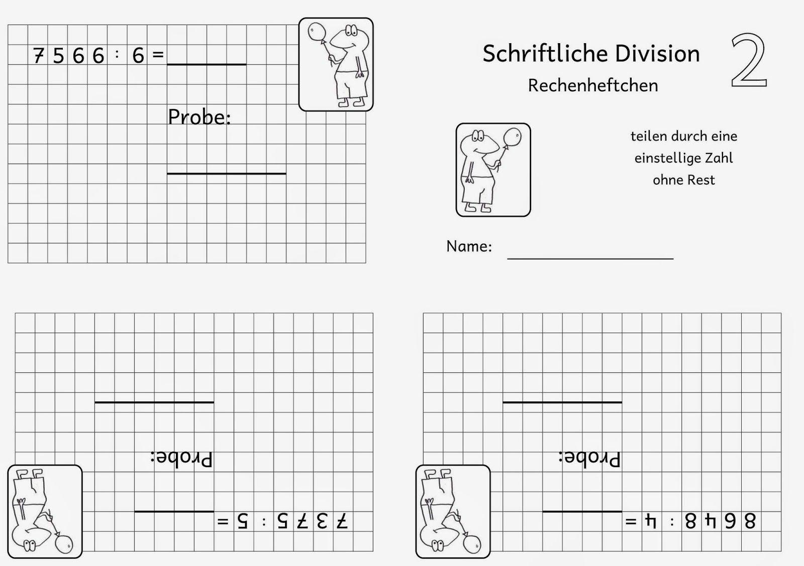 Lernstübchen: Rechenheftchen schriftliche Division (1) | Division ...