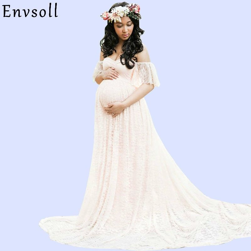 824e345b66 Lace Maxi Gown Maternity Photography Props Pregnancy Dress | DRESSES ...