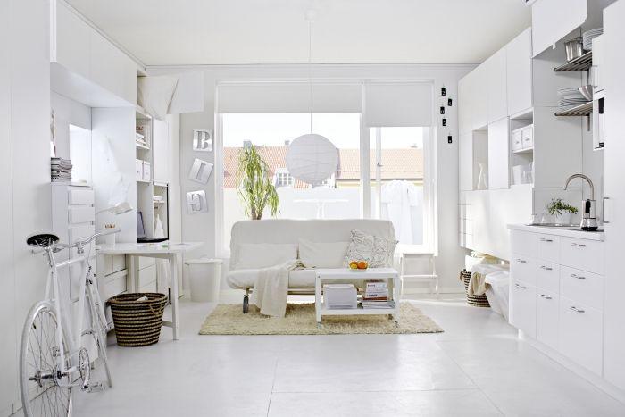 IKEA #woonkamer #wit #slaapbank #kleinwonen | Woonkamers | Pinterest ...
